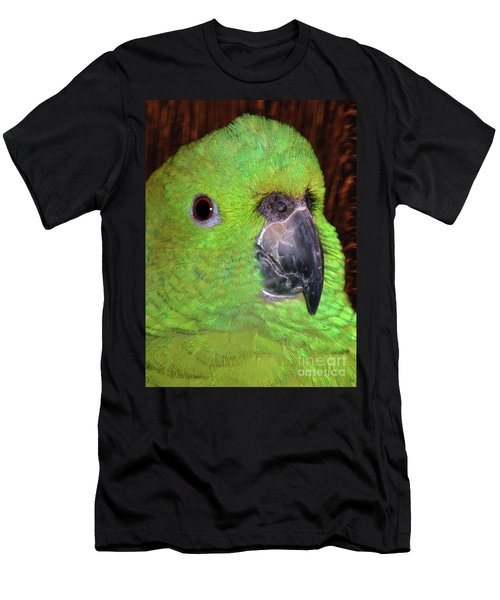 Men's T-Shirt (Athletic Fit) featuring the photograph Amazon Parrot by Debbie Stahre