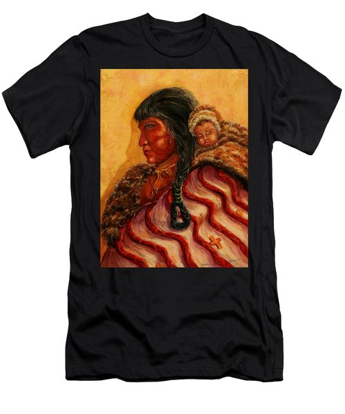 American Indian Mother And Child Men's T-Shirt (Athletic Fit)