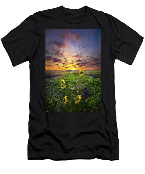 Men's T-Shirt (Athletic Fit) featuring the photograph Any Time At All by Phil Koch