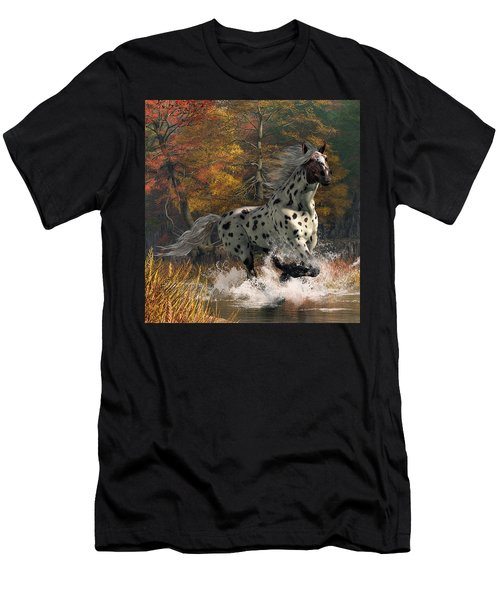 Men's T-Shirt (Athletic Fit) featuring the digital art Appaloosa River by Daniel Eskridge
