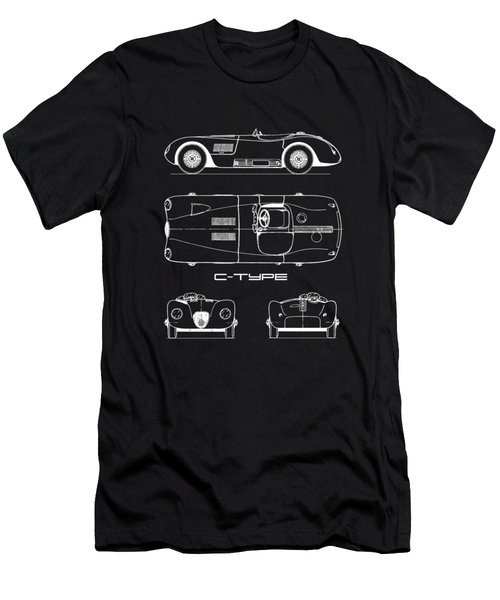 Jaguar C-type Blueprint Men's T-Shirt (Athletic Fit)