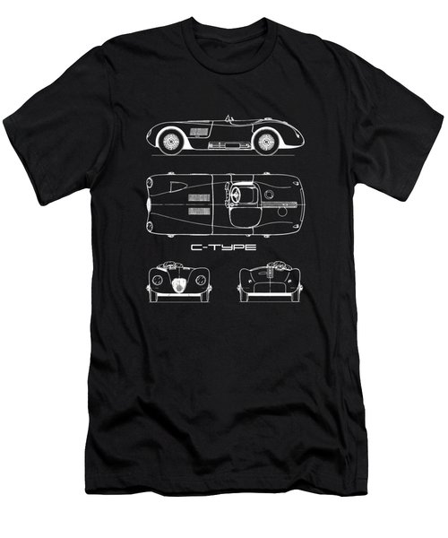 Jaguar C-type Blueprint Men's T-Shirt (Athletic Fit)