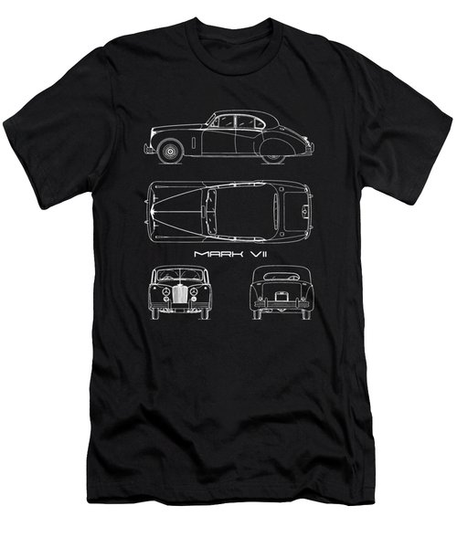 Jaguar Mk Vii Blueprint Men's T-Shirt (Athletic Fit)