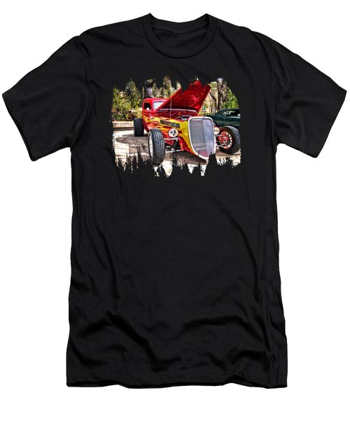 Red And Yellow  Men's T-Shirt (Athletic Fit)