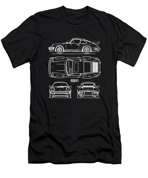 The 911 Turbo Blueprint Men's T-Shirt (Athletic Fit)