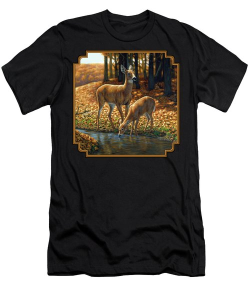 Whitetail Deer - Autumn Innocence 1 Men's T-Shirt (Athletic Fit)