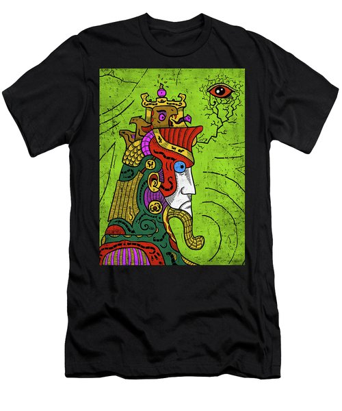 Men's T-Shirt (Athletic Fit) featuring the digital art Ancient Egypt Pharaoh by Sotuland Art