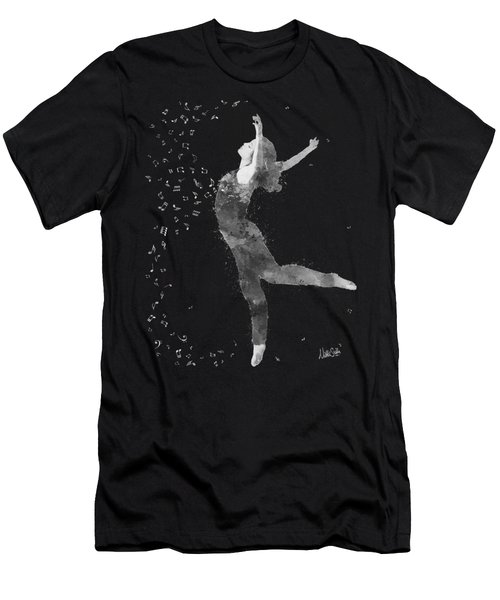 Beloved Deanna Radiating Love In Black And White Men's T-Shirt (Athletic Fit)