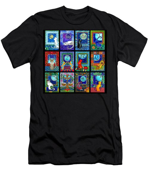 Astrology Cat Zodiacs Men's T-Shirt (Athletic Fit)