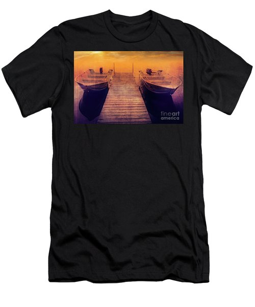 Men's T-Shirt (Athletic Fit) featuring the photograph At The Lake by Scott Kemper