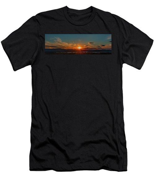 Attean Pond Sunset Men's T-Shirt (Athletic Fit)