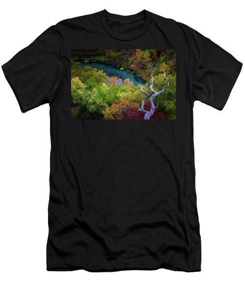 Autumn At Ha Ha Tonka State Park Men's T-Shirt (Athletic Fit)