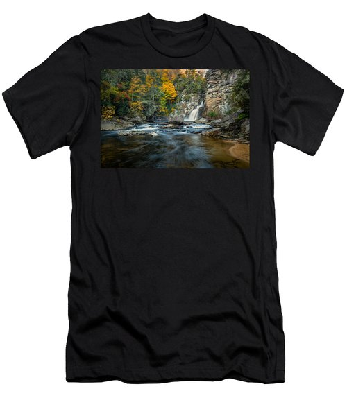 Autumn At Linville Falls - Linville Gorge Blue Ridge Parkway Men's T-Shirt (Athletic Fit)