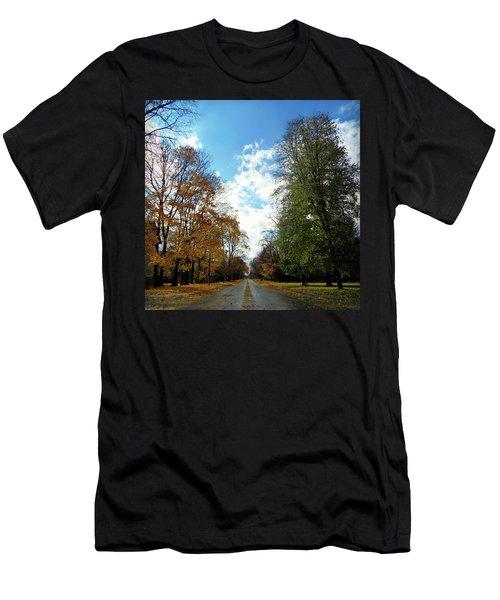 Autumn Conquers Men's T-Shirt (Athletic Fit)