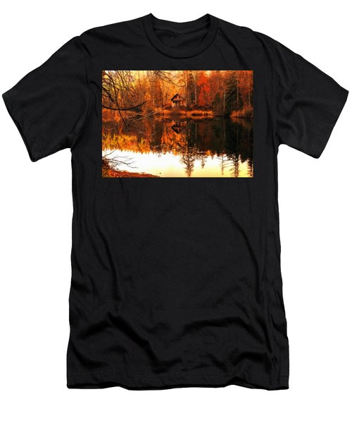 Autumn Dreams Reflected L B Men's T-Shirt (Athletic Fit)