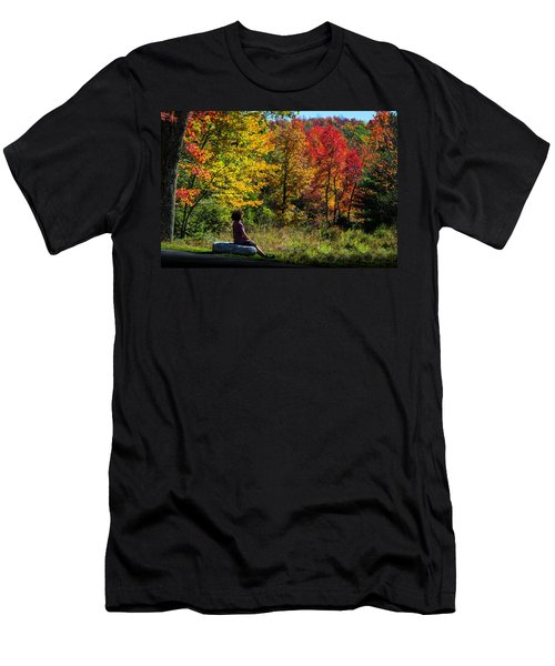 Autumn Leaves In The Catskill Mountains Men's T-Shirt (Athletic Fit)