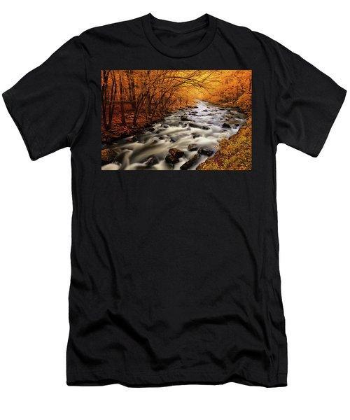 Autumn On The Little River Men's T-Shirt (Athletic Fit)