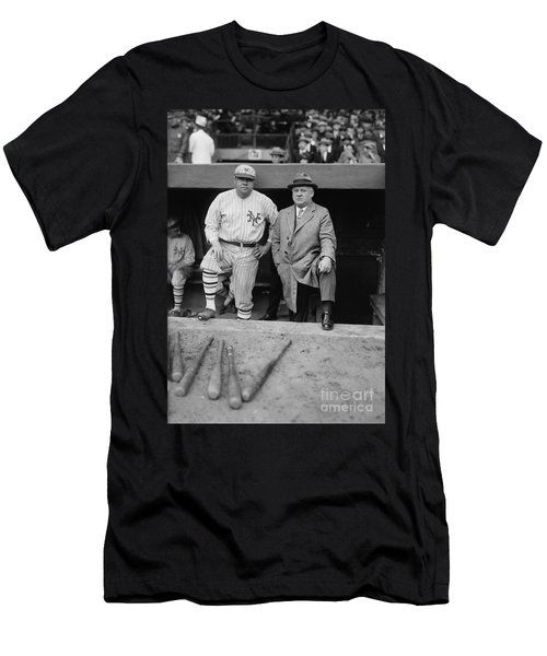 Babe Ruth And John Mcgraw New York Men's T-Shirt (Athletic Fit)