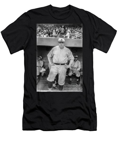 Babe Ruth With The Yankees Men's T-Shirt (Athletic Fit)