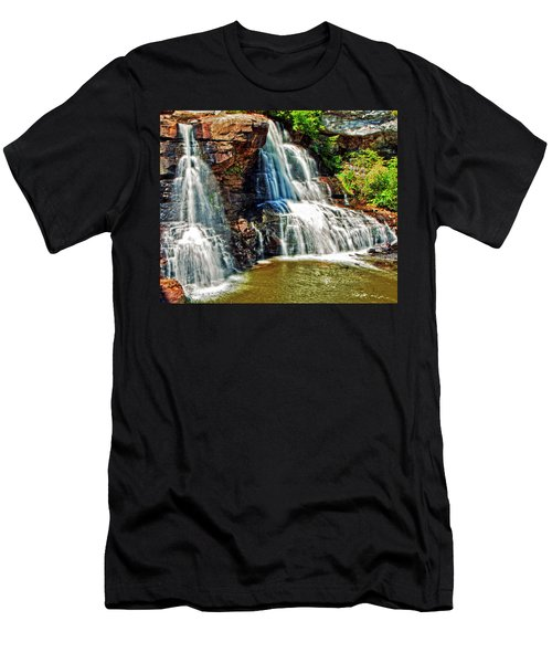 Balckwater Falls - Closeup Men's T-Shirt (Athletic Fit)