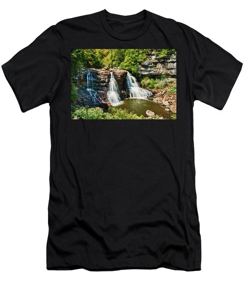 Balckwater Falls - Wide View Men's T-Shirt (Athletic Fit)