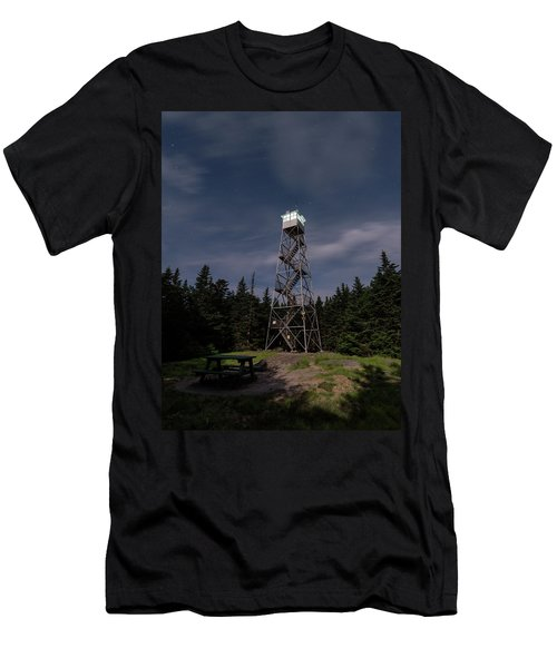 Balsam Lake Mountain Firetower Moonlight Men's T-Shirt (Athletic Fit)