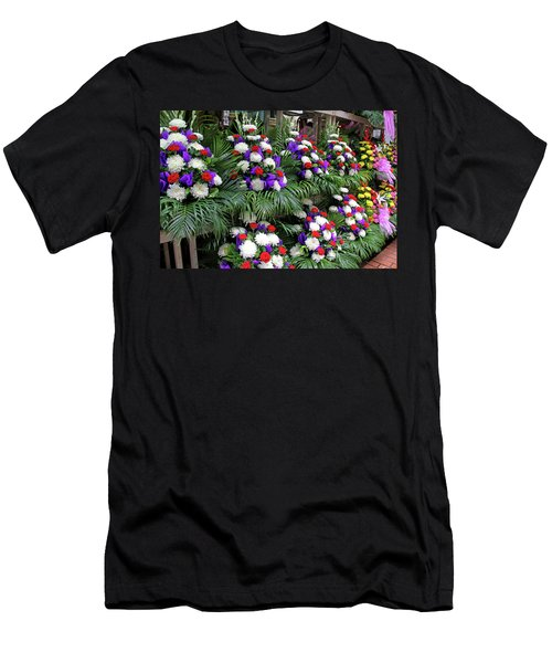 Bangkok, Thailand - Flower Market Men's T-Shirt (Athletic Fit)