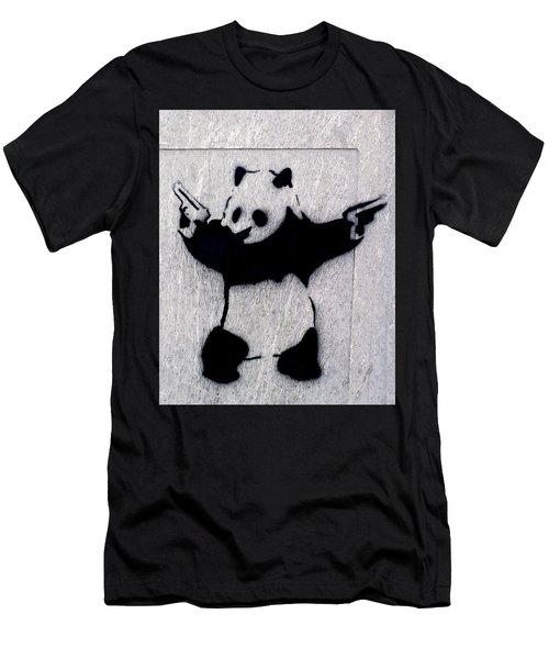 Banksy Panda Men's T-Shirt (Athletic Fit)