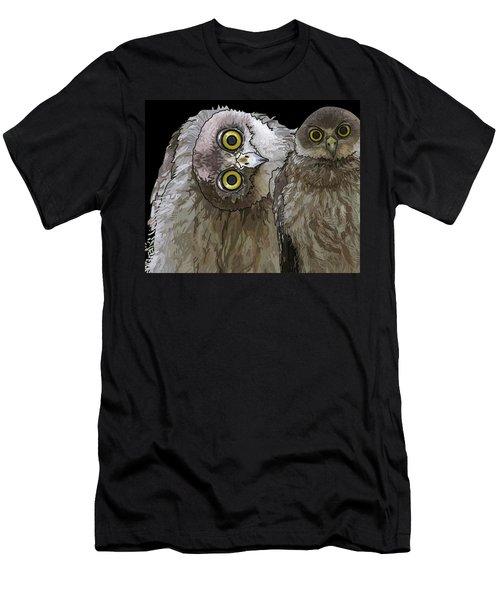 Barking Owls 2 Men's T-Shirt (Athletic Fit)