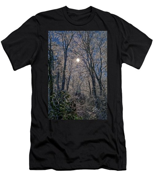 Men's T-Shirt (Athletic Fit) featuring the photograph Bass Lake Frosty by Meta Gatschenberger