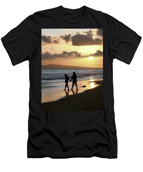 Beach Walk At Sunset Men's T-Shirt (Athletic Fit)