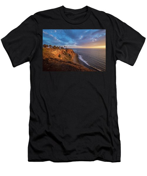 Beautiful Point Vicente Lighthouse At Sunset Men's T-Shirt (Athletic Fit)