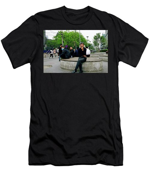 Beijing Street Men's T-Shirt (Athletic Fit)