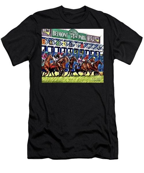 Belmont Park Starting Gate 2 Men's T-Shirt (Athletic Fit)