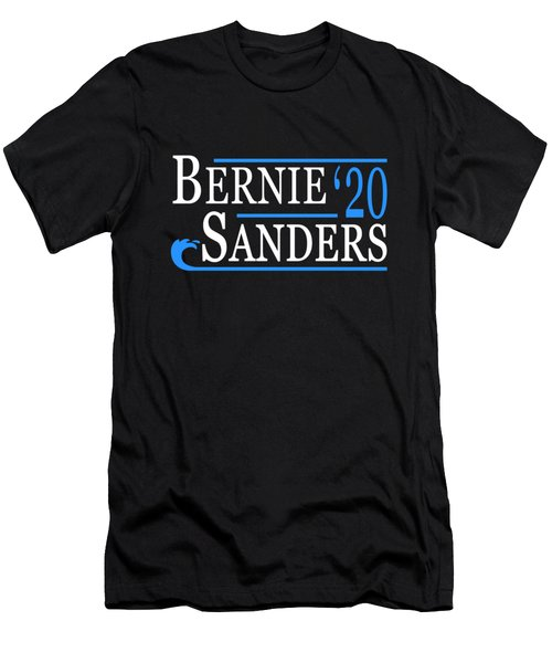 Bernie Sanders Blue Wave 2020 Men's T-Shirt (Athletic Fit)