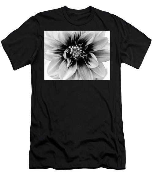 Men's T-Shirt (Athletic Fit) featuring the photograph Black And White Dahlia by Louis Dallara