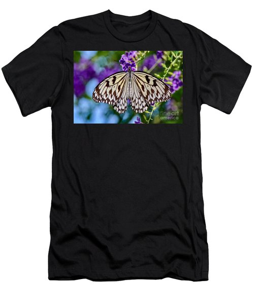 Black And White Paper Kite Butterfly Men's T-Shirt (Athletic Fit)
