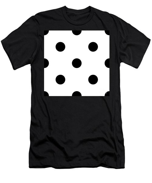 Black Dots On A White Background- Ddh610 Men's T-Shirt (Athletic Fit)