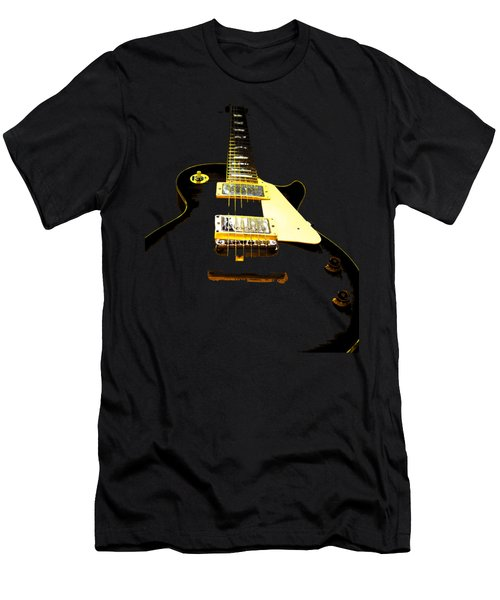 Black Guitar With Gold Accents Men's T-Shirt (Athletic Fit)