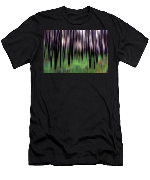 Men's T-Shirt (Athletic Fit) featuring the photograph Black Pines In A Green Wood by Wayne King