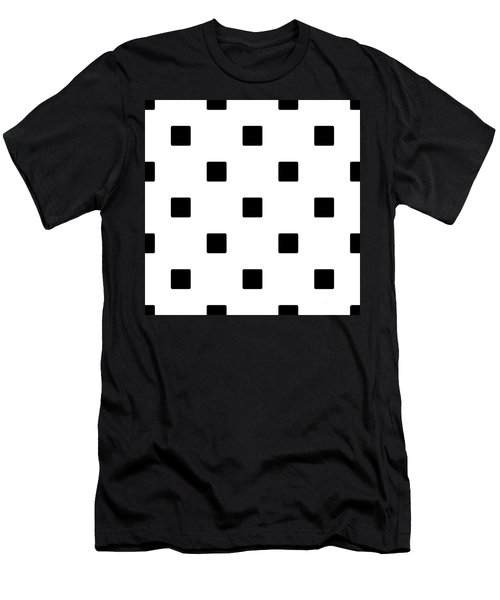 Black Squares On A White Background- Ddh574 Men's T-Shirt (Athletic Fit)