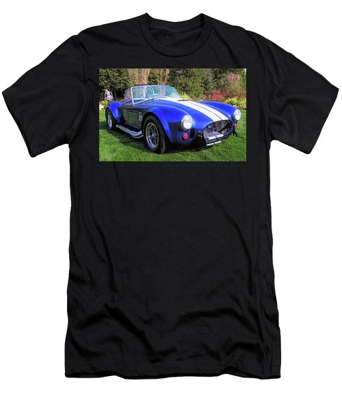 Blue 427 Shelby Cobra In The Garden Men's T-Shirt (Athletic Fit)