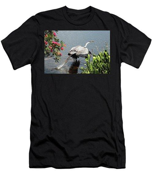 Blue Heron Take Off Men's T-Shirt (Athletic Fit)