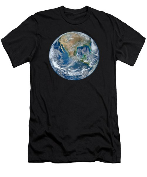 Blue Marble Our Earth From Space Men's T-Shirt (Athletic Fit)