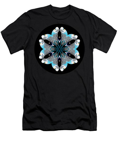 Blue Parakeet Mandala Men's T-Shirt (Athletic Fit)