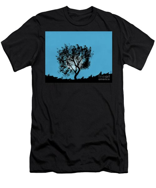 Blue Sky Moon Men's T-Shirt (Athletic Fit)