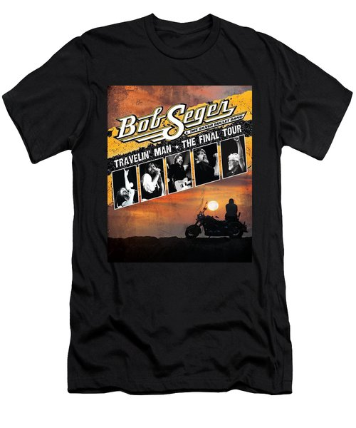 Bob Seger Travellin Man The Final Tour Ajadcode12 Men's T-Shirt (Athletic Fit)