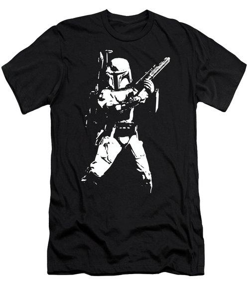 Boba Fett Minimalistic Pop Art Men's T-Shirt (Athletic Fit)