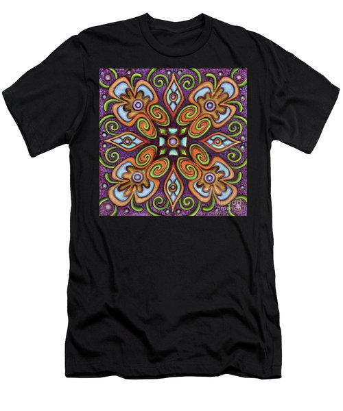 Botanical Mandala 11 Men's T-Shirt (Athletic Fit)