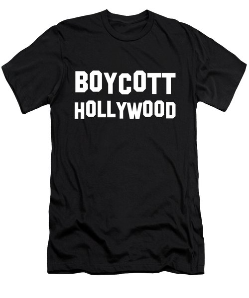 Boycott Hollywood Men's T-Shirt (Athletic Fit)